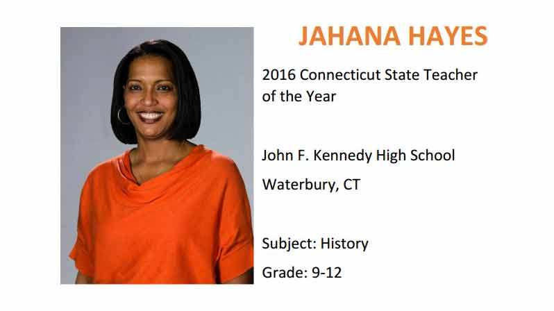 Jahana Hayes, National Teacher of the Year 2016 (CCSSO)