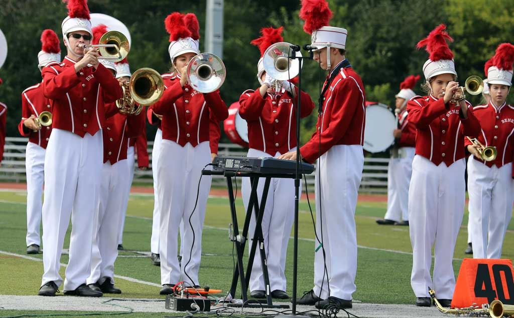 Benet Academy marching band September 2016