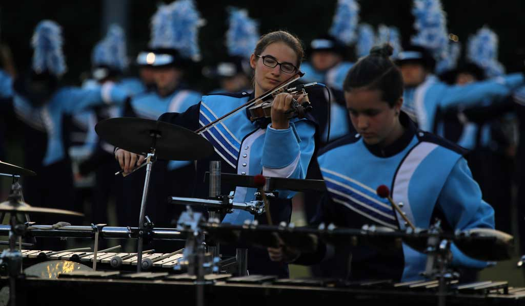 Downers Grove South High School marching band September 2016