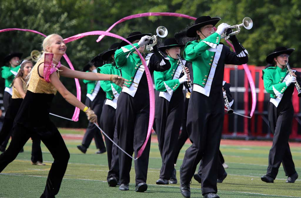 Geneseo High School marching band September 2016