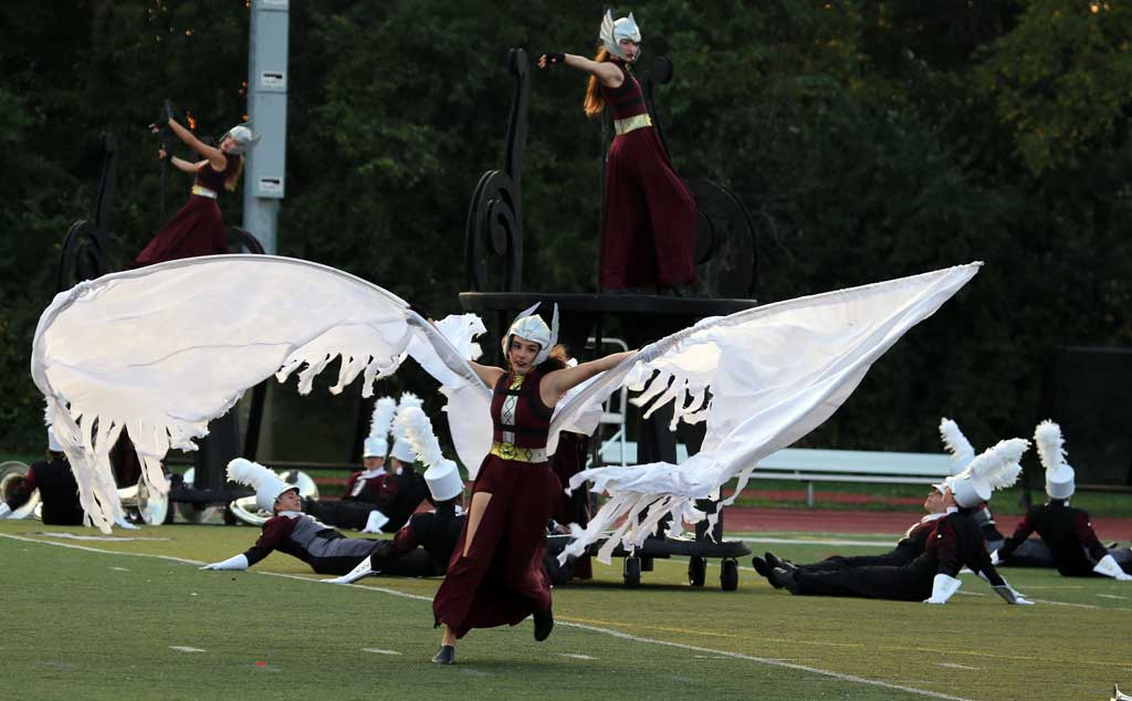 Lockport Township High School marching band September 2016