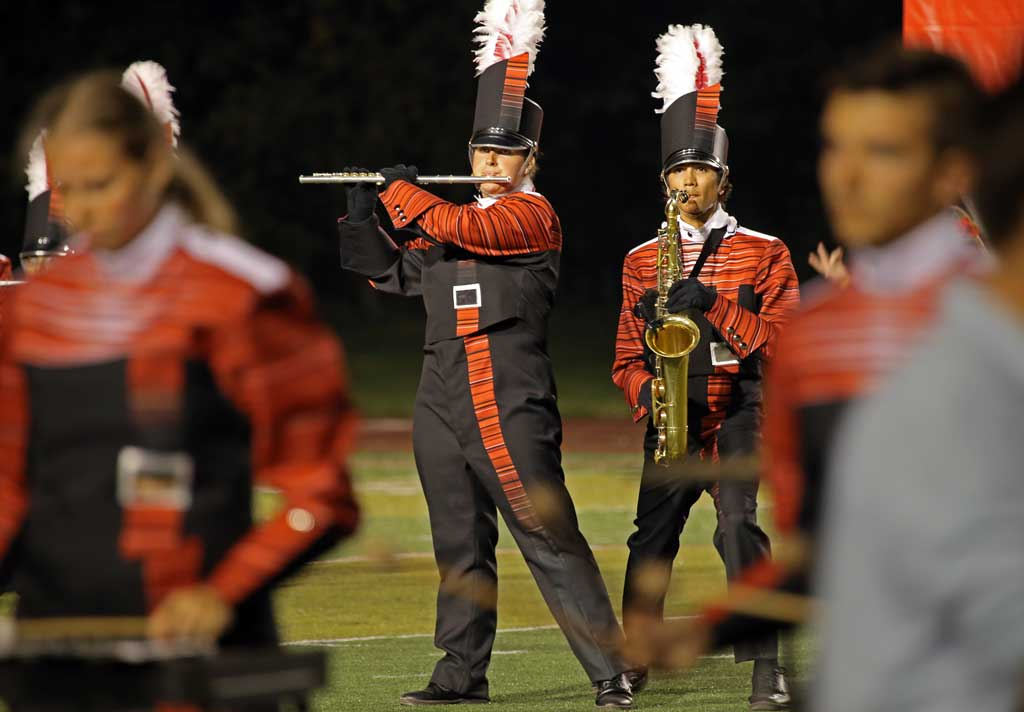Naperville Central High School marching band September 2016
