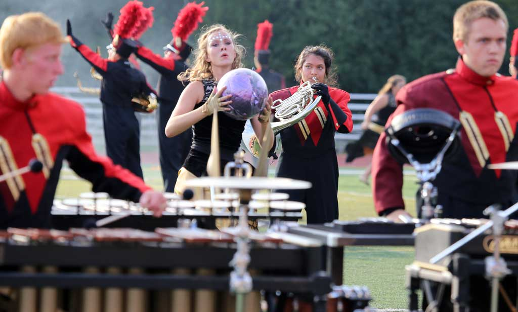 Plainfield North High School marching band September 2016