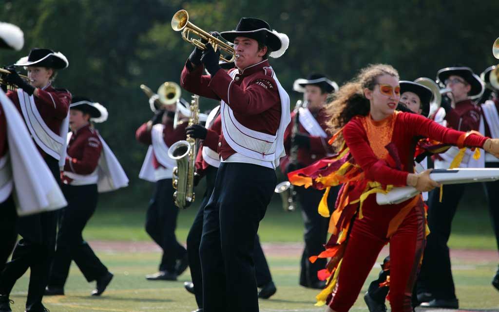 Prairie Ridge High School marching band September 2016