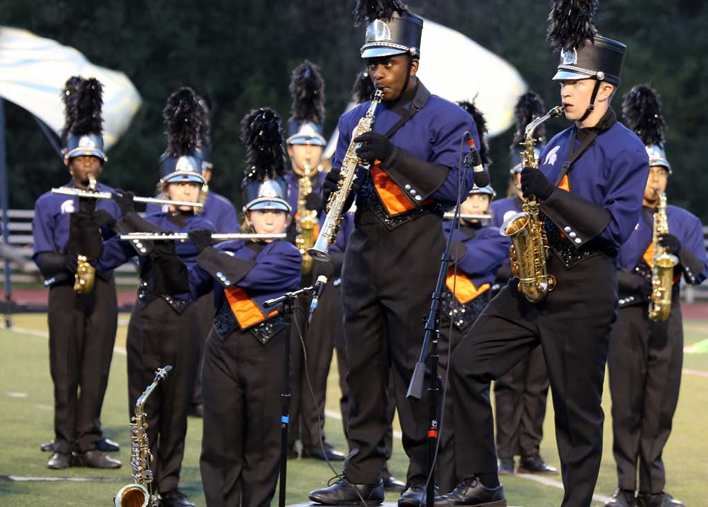 Romeoville High School marching band September 2016