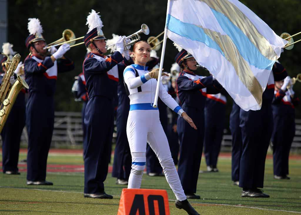 Amos Alonzo Stagg High School marching band September 2016