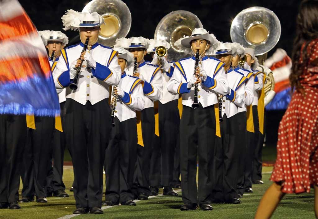 Warren Township High School marching band September 2016
