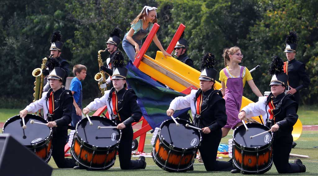 Wheaton Warrenville South High School marching band September 2016
