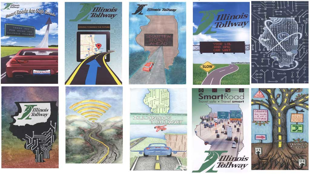 Tollway Illinois Map.Vote For The Illinois Tollway H S Cover Art Contest Voxitatis Blog