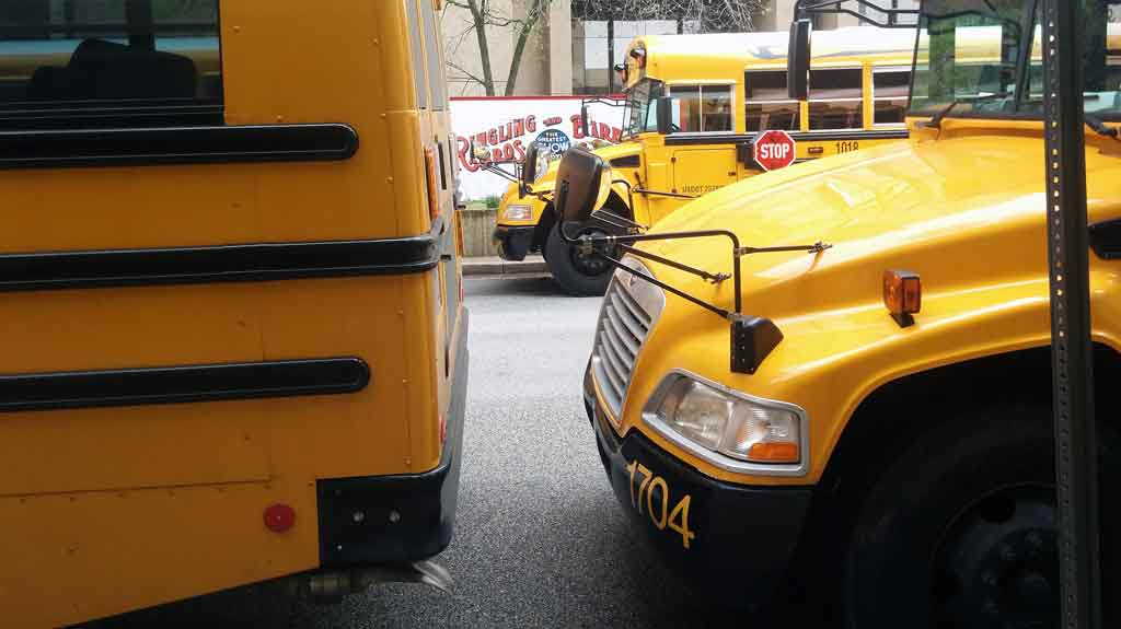 The circus brought busloads of students to downtown Baltimore on Friday April 21 2017